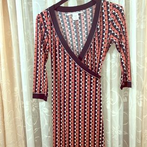 Max Studio patterned wrap dress
